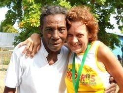 Barbara and Machiti Moma in Barbaras Village