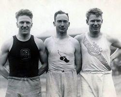 Loren Murchison, Jackson Scholz and Charley Paddock