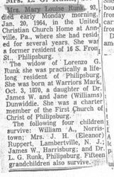 Runk, Mary Dunwiddie 1964