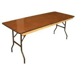 6'  Wooden Table $ 8.00ea
