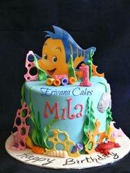 Ariel Flounder cake