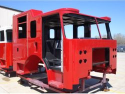 Cab Painted Red