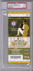 Texas Rangers vs. St. Louis Cardinals Game 3 PSA 10 GEM 2011 World Series Ticket Albert Pujols 3 HR's