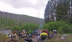 camp on the Bonaventure