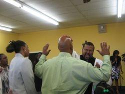 pastor ministering