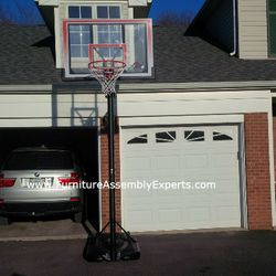 portable basketball hoop assembly service in vienna VA