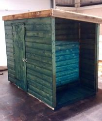 Pent Shed 6' x 3' (incl. log store)