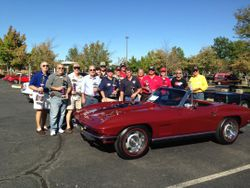 Joe Bardon's Top Flight  67 Convertible with Chapter Members