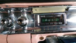 57 Fleetwood New AM FM Radio with Aux Input