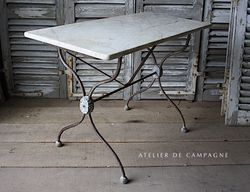 #27/109 FRENCH BRASSERIE TABLE MARBLE TOP