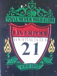 House plaque for Liverpool fan