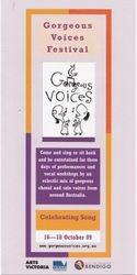 2009 Gorgeous Voices Festival Bendigo Festival Brochure
