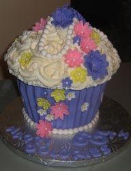 Giant Cupcake in Purple