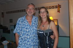 John and Ann (wearing a dress!!!) at Joe's 80th birthday party