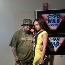 Foolish & Demetria McKinney At WJLB Radio Station on May 3, 2013