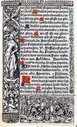 1510 Book of Hours Leaf