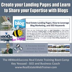 Generating Leads involves Landing Pages and Blogs... - #8WeekSuccess