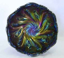 Acanthus deep round bowl, purple