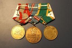 Tarybiniu medaliu blokas. Kaina 36 Eur.