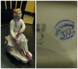 Porcelianine ciuozejos statulele. Kaina 46 Eur.