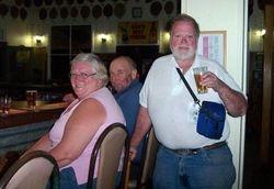 Tom enjoying a beer at Nindigully Pub - Aug 2007