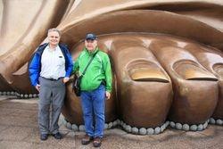 Randy and Robert at Foot of Grand Buddah in Wuxi