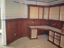 Custom stained judges panels and cabinets