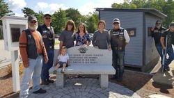 Dedication of Chapter Memorial Bench