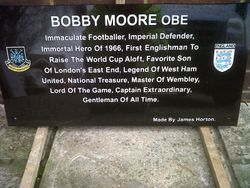 Bobby Moore Tribute plaque