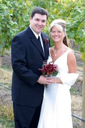 Steve & Natalie in the vineyard
