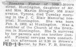 Fisher, Rosanna 1932
