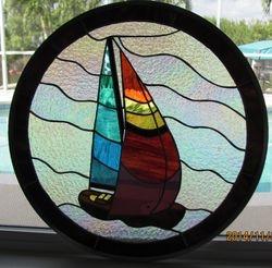Sail Boat round window