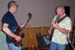 Larry and Brian working on a groove