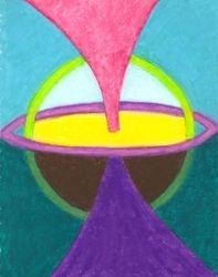 Centerpoint Mandala, Oil Pastel, 11x14, Original Sold