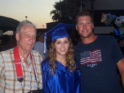 DAUGHTER JAZARE, GRADUATION WITH HER GRANDFATHER AND HER BROTHER JORDAN