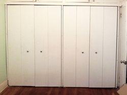 Existing closet doors