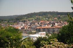 View of Betanzos from the Betanzos El Pasatiempo gardens