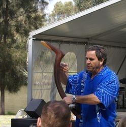 Larry and emu boomerang