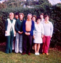 Pa Rundle with all his Daughter Inlaws