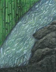 Running Stream, Acrylic, 11x14, Original Sold