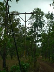 One of the original telegraph poles