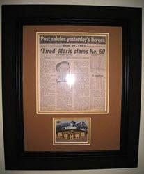 Roger Maris New York Yankees Signed 60th Home Run Newspaper Cut AUTO JSA LOA COA