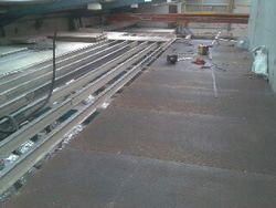 Steel floor instalation