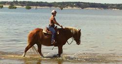 Riding along the shore of Lake Whitney!