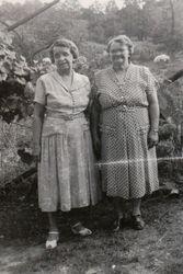 Edith Gertrude (Beaver) Riley Wirrick and Flora Mae (Snare) Grove