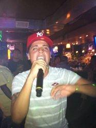 John B spittin' for the crowd at Carmen & Patty's Birthday Celebration (502 Bar Lounge's Social Saturday Karaoke Night)!