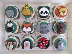 Zoo Animal Birthday Cupcakes