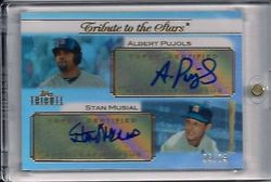 2011 Topps Tribute Albert Pujols Stan Musial Dual Auto Numbered 06/74 - Stan Musials Jersey Number