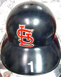 Ozzie Smith 1996 Game Used St. Louis Cardinals Batting Helmet