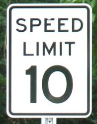 10 MPH Speed Limit